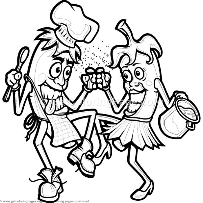 Chili Peppers Cooking Coloring Pages – GetColoringPages.org