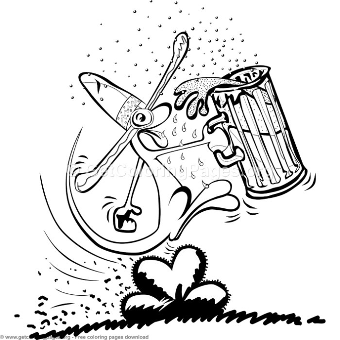 Creature Drinking Beer Coloring Pages Getcoloringpages Org