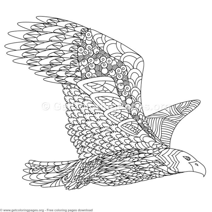 Eagle Zentangle Coloring Pages