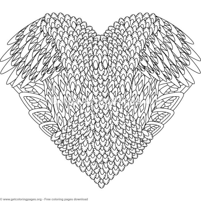 Heart Zentangle Coloring Pages – GetColoringPages.org