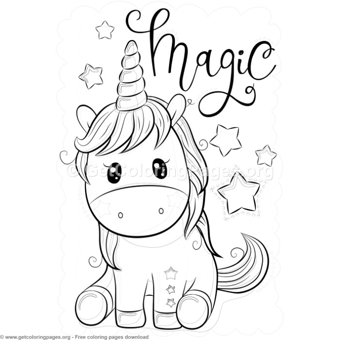 Magic Unicorn Coloring Pages