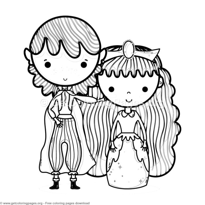 Magic World Prince and Princess Coloring Pages – GetColoringPages.org