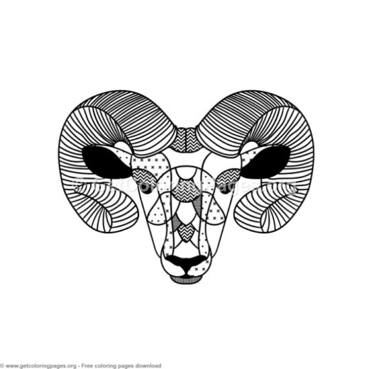 Scandinavian Style Ram Coloring Pages