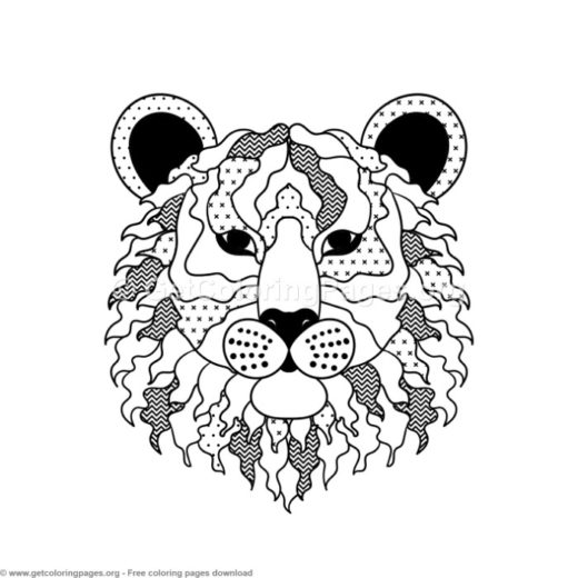 Scandinavian Style Tiger Coloring Pages