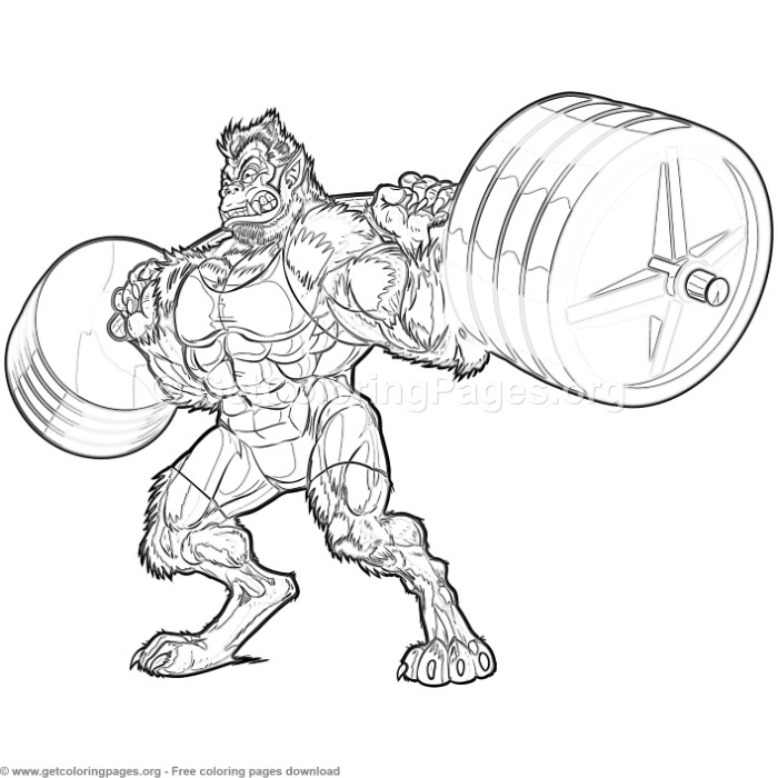 Weightlifting Beast Man Coloring Pages – GetColoringPages.org