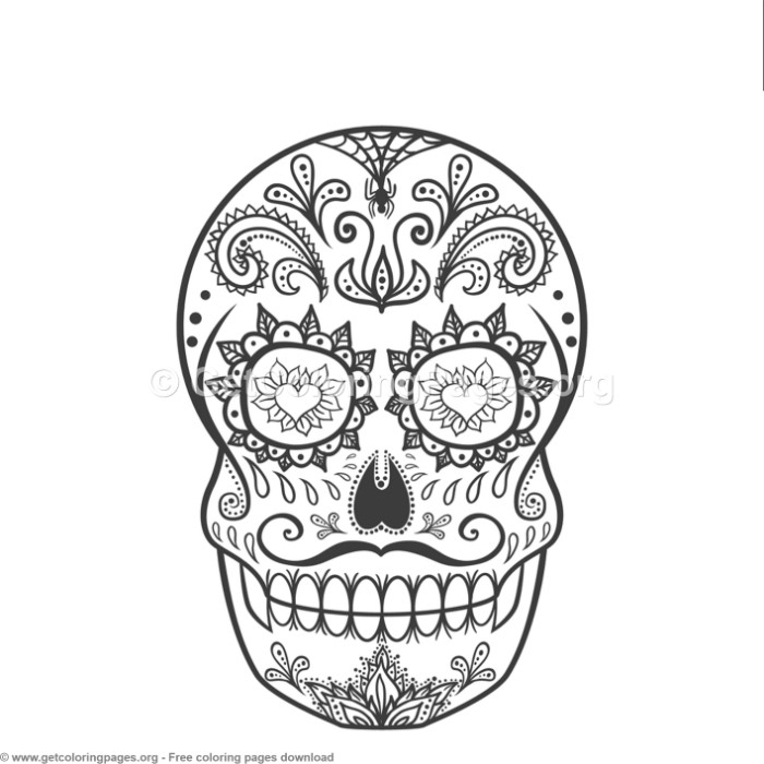 1 Zentangle Sugar Skull Coloring Pages Getcoloringpages Org