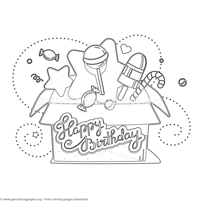 12 Happy Birthday Coloring Pages - GetColoringPages.org
