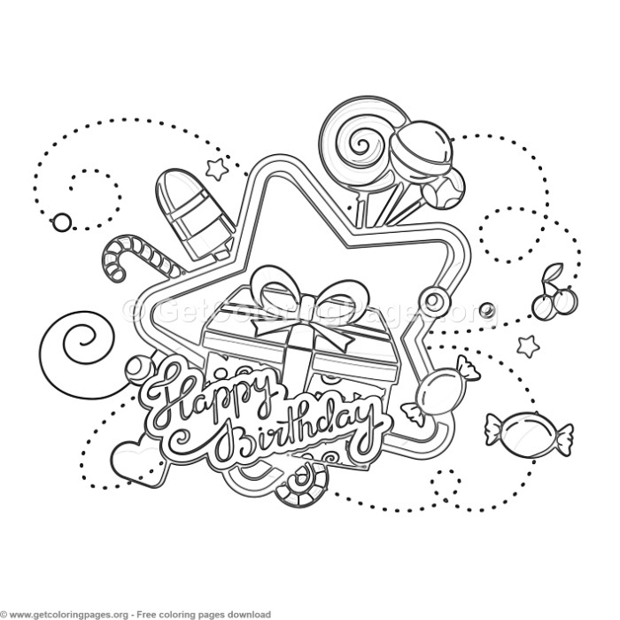 13 Happy Birthday Coloring Pages