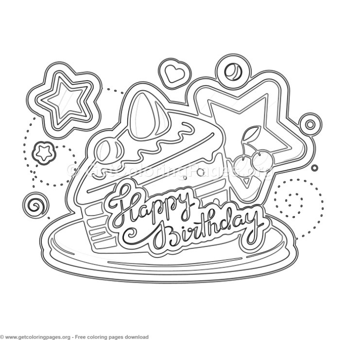 15 Happy Birthday Coloring Pages – GetColoringPages.org