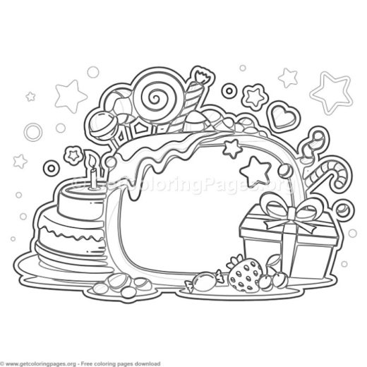 17 Happy Birthday Coloring Pages