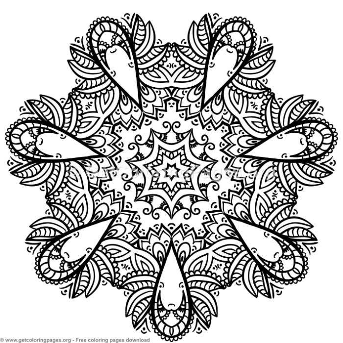 2 Mandala Patterns Coloring Pages – GetColoringPages.org