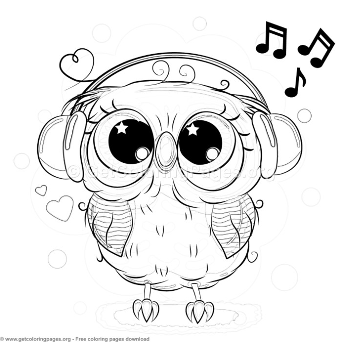24 Cute Owl Coloring Pages Getcoloringpages Org