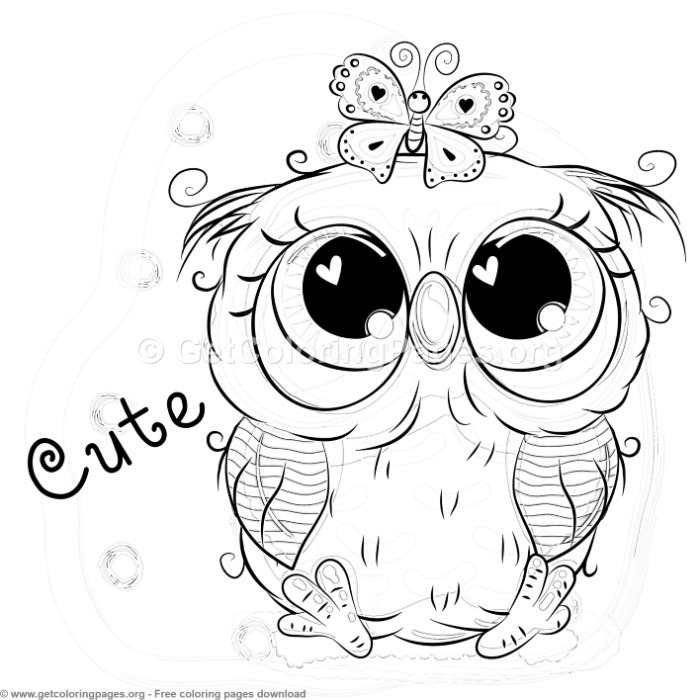 25 Cute Owl Coloring Pages GetColoringPages