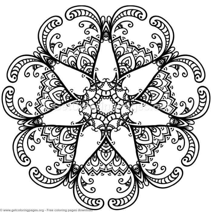 3 Mandala Patterns Coloring Pages – GetColoringPages.org