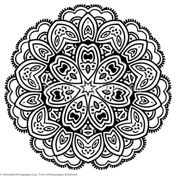 4 Mandala Patterns Coloring Pages – GetColoringPages.org