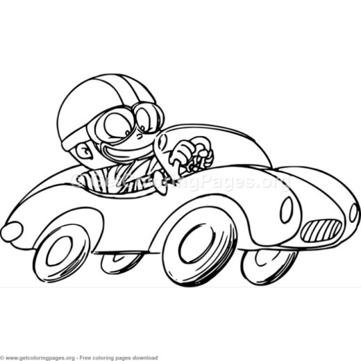 4 Race Car Coloring Pages