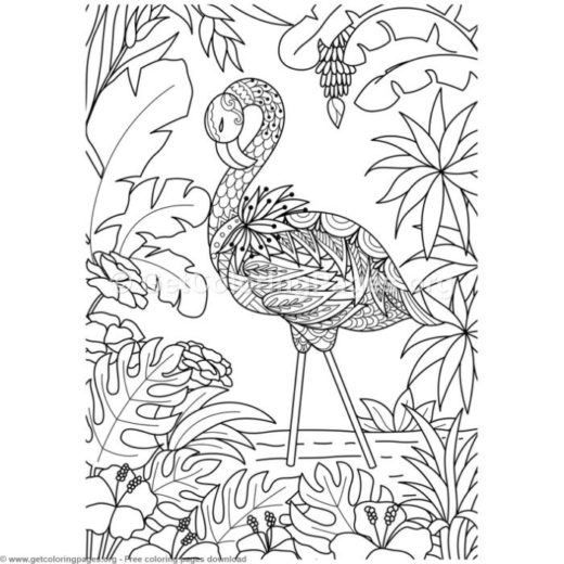 Flamingo Coloring Pages Getcoloringpages Org