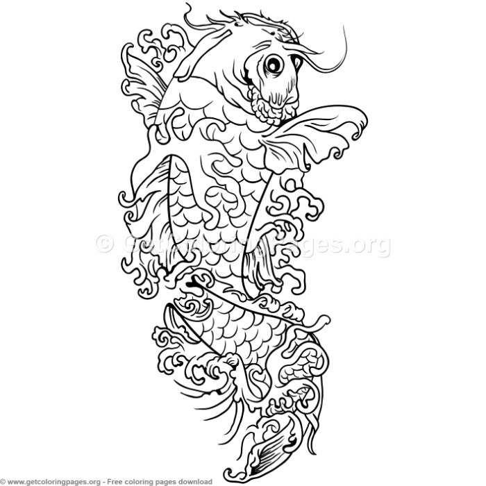 5 Koi Fish Coloring Pages GetColoringPages
