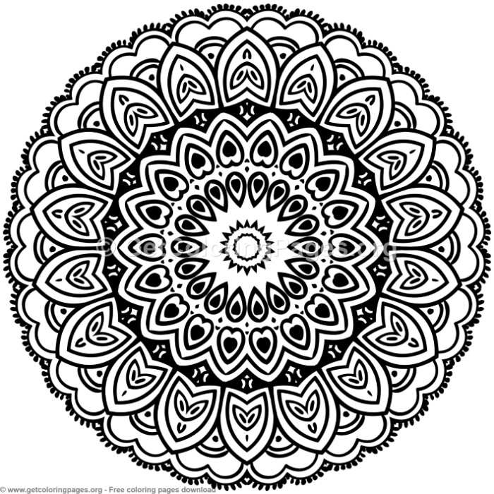 5 Mandala Patterns Coloring Pages – GetColoringPages.org