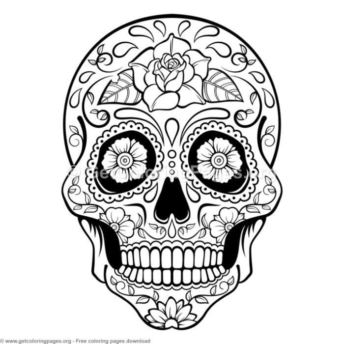 5 Zentangle Sugar Skull Coloring Pages GetColoringPages