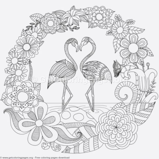 Cute Flamingo Coloring Pages Getcoloringpages Org