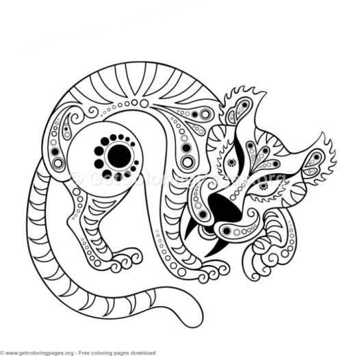 chinese zodiac animals coloring pages. Black Bedroom Furniture Sets. Home Design Ideas