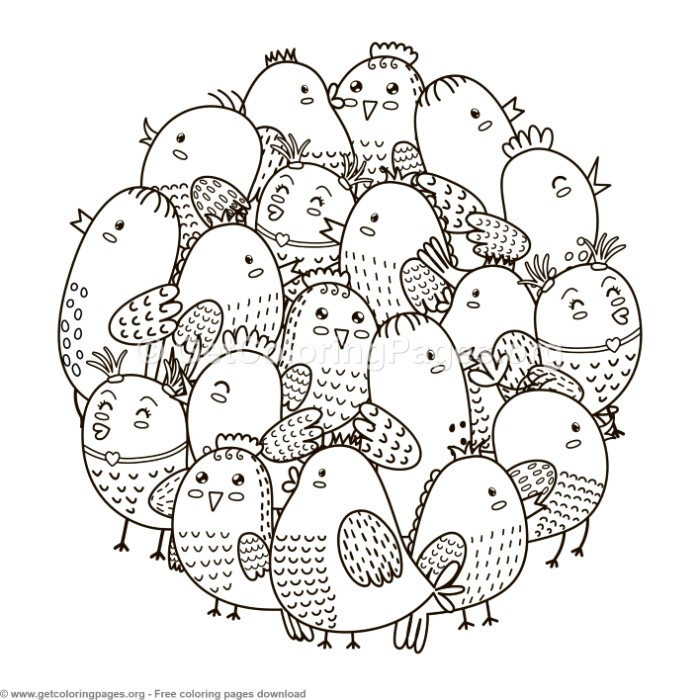 Circle Shape Birds Pattern Coloring Pages Getcoloringpages Org