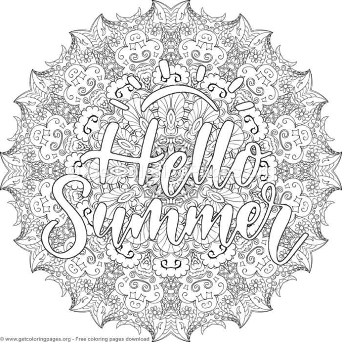 Hello Summer Mandala Coloring Pages Getcoloringpages Org