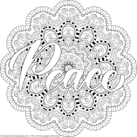 Peace Mandala Coloring Pages