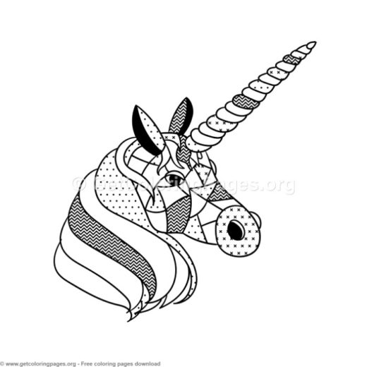 Scandinavian Style Unicorn Coloring Pages