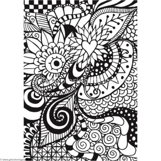 10 Zentangle Card Coloring Pages