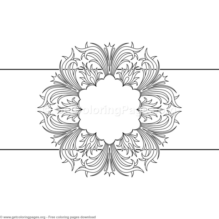 12 Vintage Ornamental Pattern Coloring Pages