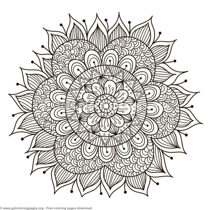 25 Zentangle Round Mandala Coloring Pages
