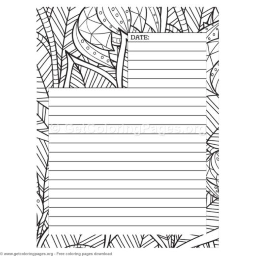 journal pages template coloring getcoloringpages org