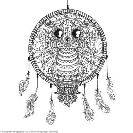 Dream Catcher Coloring Pages Free Getcoloringpages Org