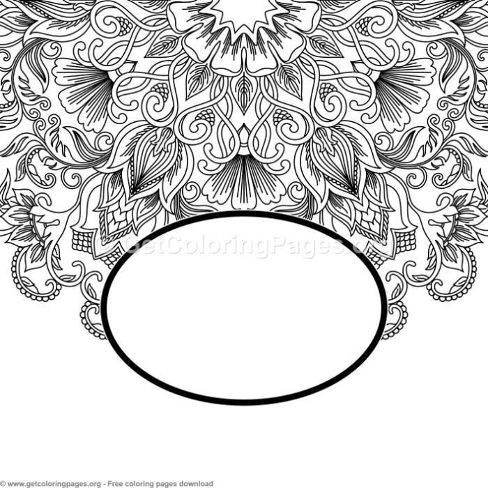 3 Vintage Ornamental Pattern Coloring Pages