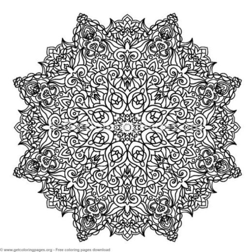 36 Zentangle Round Mandala