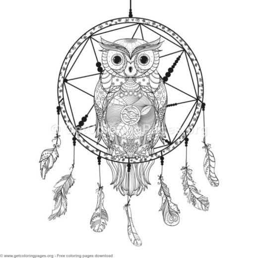 dream catcher coloring page printable getcoloringpages org