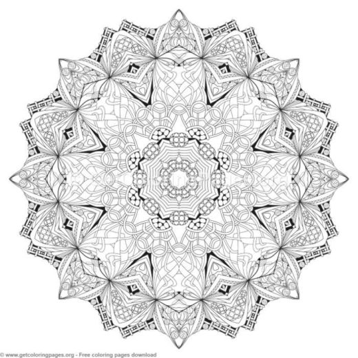 41 Zentangle Round Mandala Coloring Pages