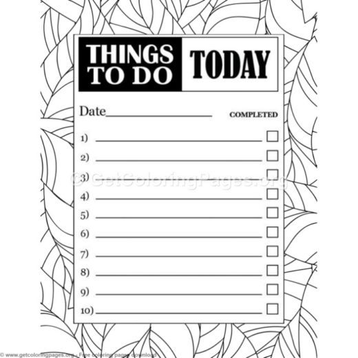 todo list template – GetColoringPages.org