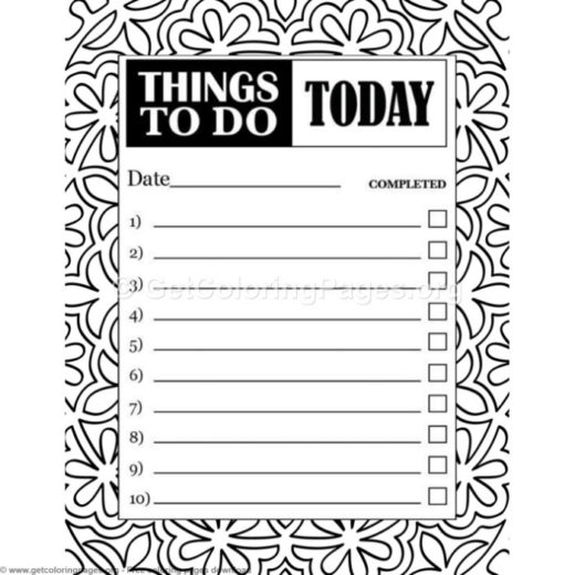 Cute To Do List Template Getcoloringpages