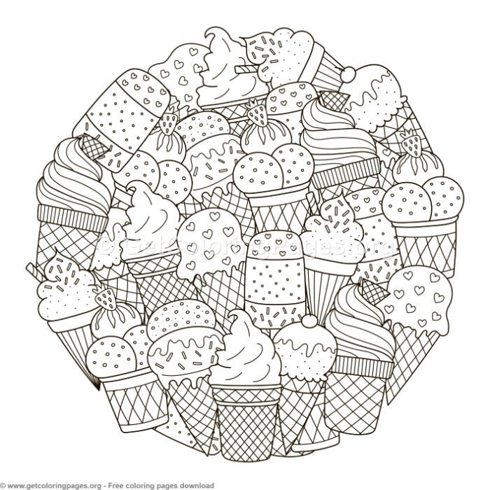 Circle Shape Ice Cream Pattern Coloring Pages Getcoloringpagesorg - Circle-pattern-coloring-pages