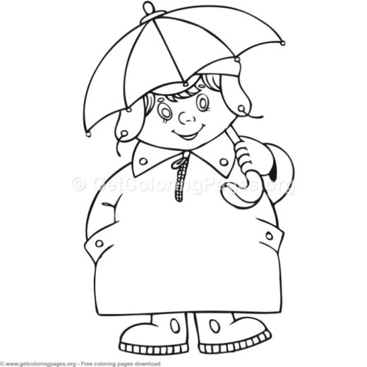 1 Children In Different Season Coloring Pages
