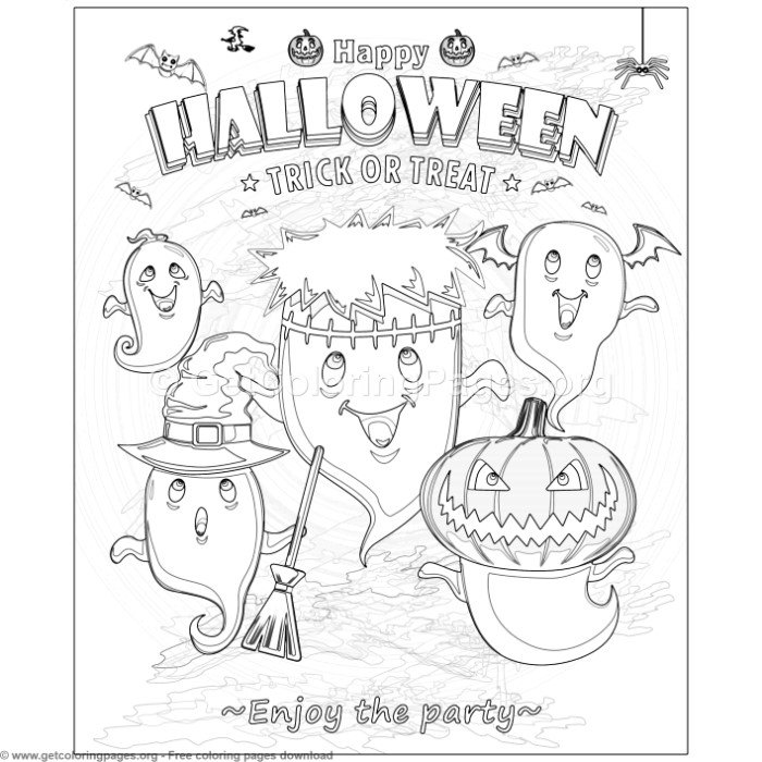 13 Happy Halloween Coloring Pages – GetColoringPages.org