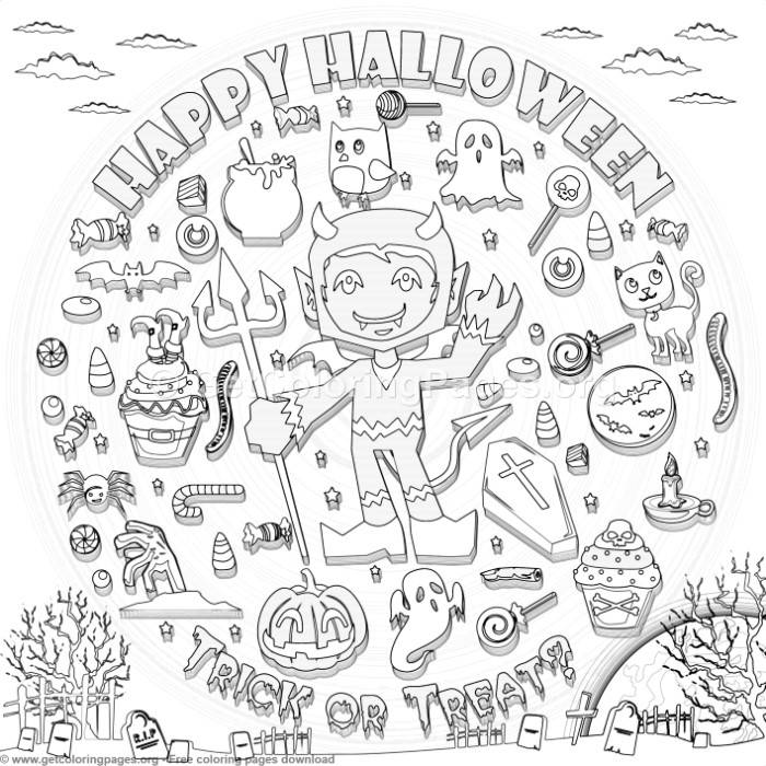 17 Happy Halloween Coloring Pages