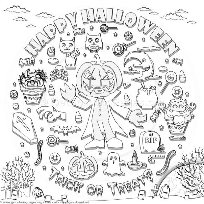 18 Happy Halloween Coloring Pages