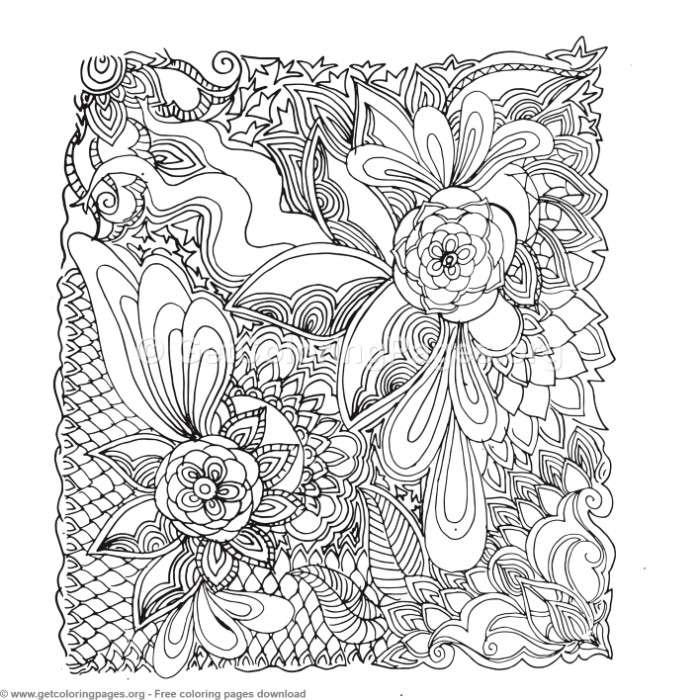 20 Zentangle Patterns Coloring Pages – GetColoringPages.org