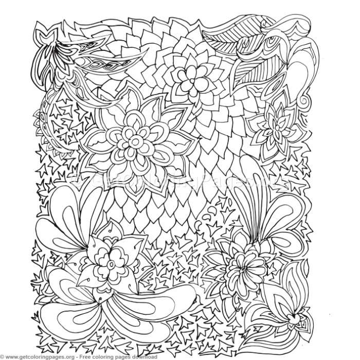 22 Zentangle Patterns Coloring Pages – GetColoringPages.org