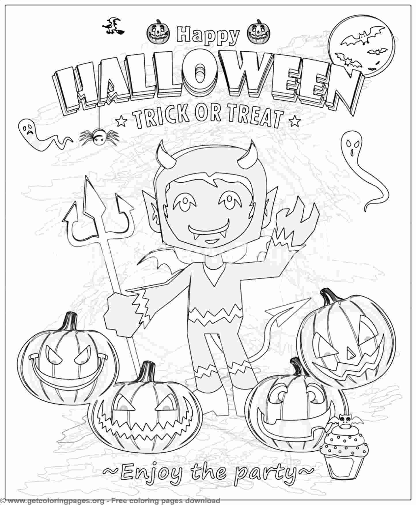 23 Happy Halloween Coloring Pages – GetColoringPages.org