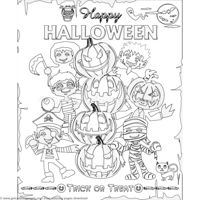 3 Happy Halloween Coloring Pages